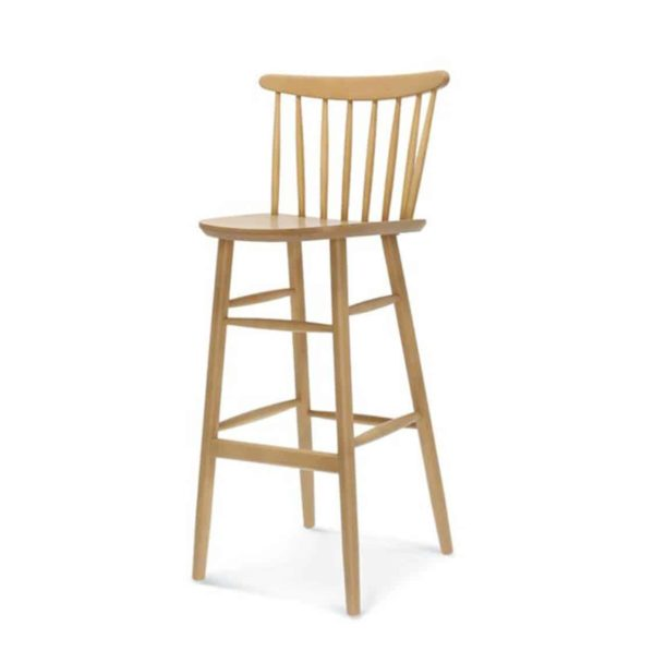 Wand Bar Stool Spindle Back DeFrae Contract Furniture Natural