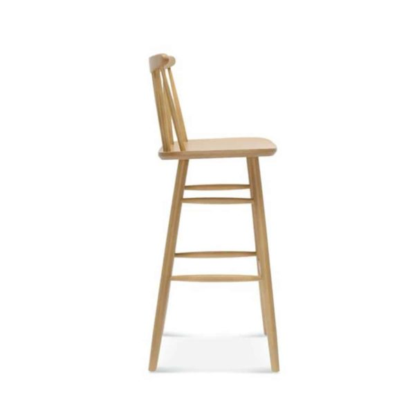 Wand Bar Stool Spindle Back DeFrae Contract Furniture Side View