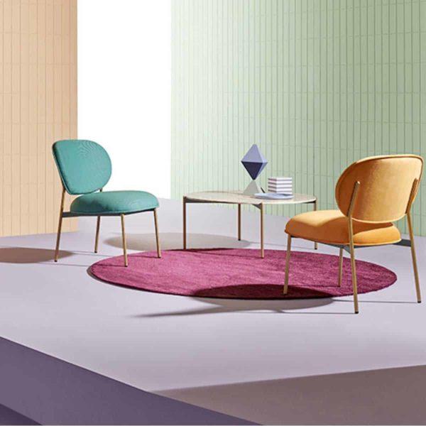 Blume 2951 Lounge Chair Pedrali at DeFrae Contract Furniture In Situ
