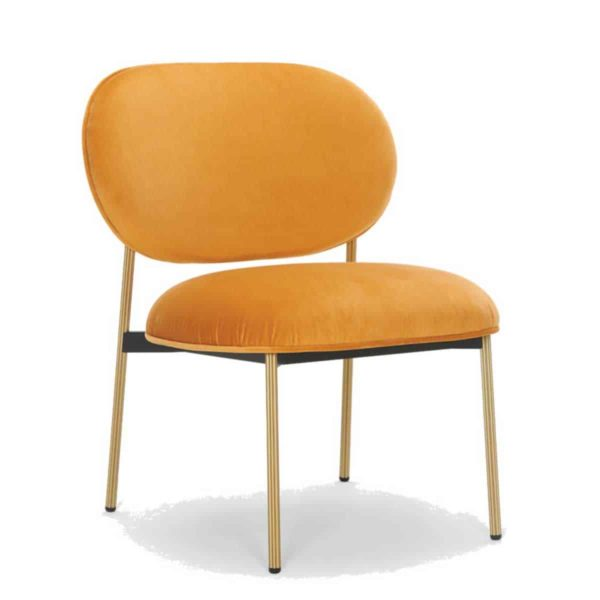 Blume 2951 Lounge Chair Pedrali at DeFrae Contract Furniture Mustard Yellow with gold frame