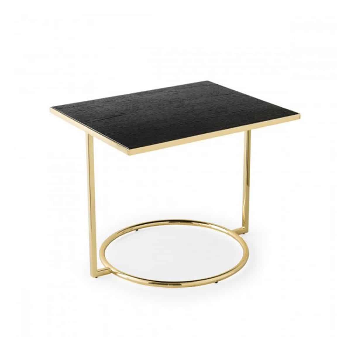 Daytona Occassional Table With Brass or Black Frame and Black Wooden Laminate Top Calligaris at DeFrae Contract Furniture 2
