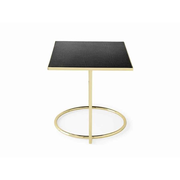 Daytona Occasional Table With Brass or Black Frame and Black Wooden Laminate Top Calligaris at DeFrae Contract Furniture