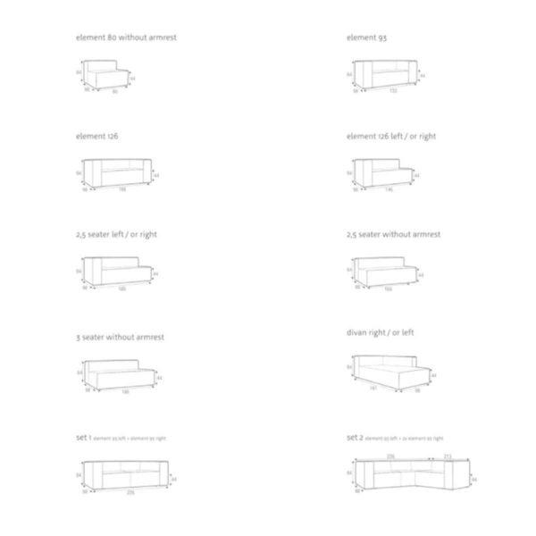 Liam Sofa DeFrae Contract Furniture Configurations
