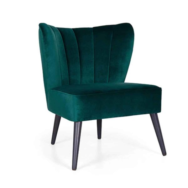 Nona lounge chair Cocktail Lounge Chairs DeFrae Contract Furniture Fluted Back
