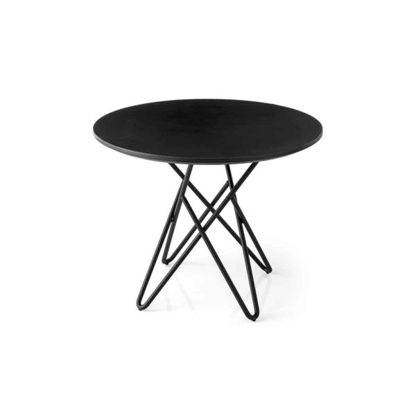 Stellar Table With Black Metal Frame and Marble Round Top Calligaris at DeFrae Contract Furniture