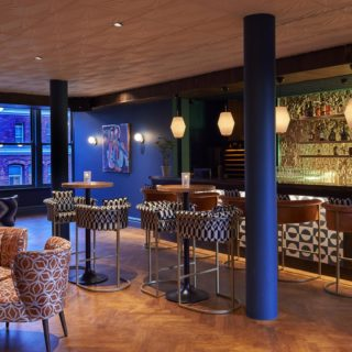 The Piano Bar Rooms Century Club London Bar Furniture by DeFrae Contract Furniture