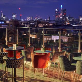 The Top Terrace Rooms Century Club London Bar Furniture by DeFrae Contract Furniture