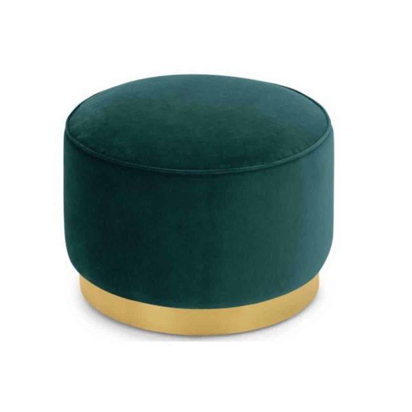 Venus Pouf Low Stool With Brass Edging