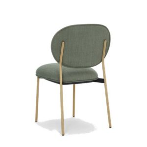 Blume 2950 Side Chair Pedrali at DeFrae Contract Furniture Antique Brass Frame