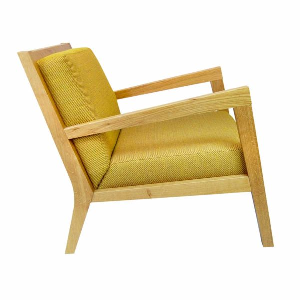Clooney lounge armchair DeFrae Contract Furniture Natural Stain