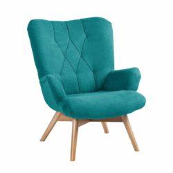 Malmo Caro wingback armchair cross stitch DeFrae Contract Furniture