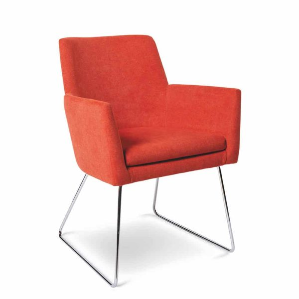 Bibi Armchair DeFrae Contract Furniture Sled Base