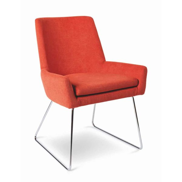 Bibi Side Chair DeFrae Contract Furniture Sled Base