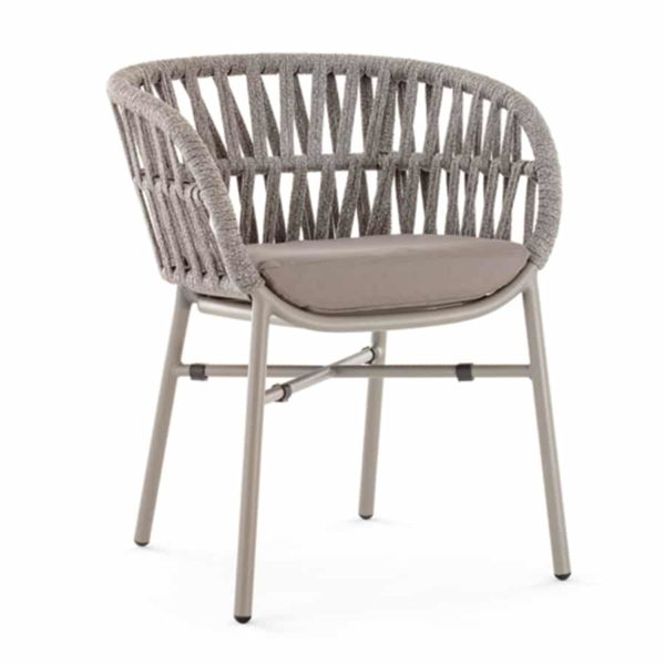 Tahiti Armchair DeFrae Contract Furniture for Outside Use Rope Effect