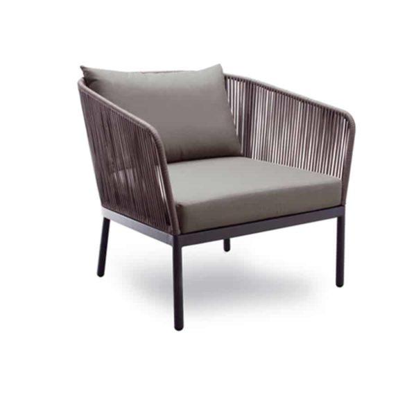 Berg Outdoor Lounge Chair String Detail Contemporary Garden Furniture