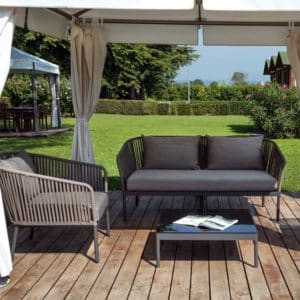Berg Outdoor Lounge Set String Detail Contemporary Garden Furniture Close Up