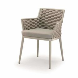 Leonardo Armchair Outdoor Rope Design DeFrae Contract Furniture