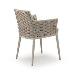 Leonardo Armchair Outdoor Rope Design DeFrae Contract Furniture Back View