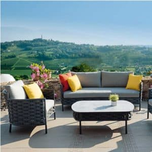 Loop Outdoor Sofa Set Rope Detail Contemporary Garden Furniture