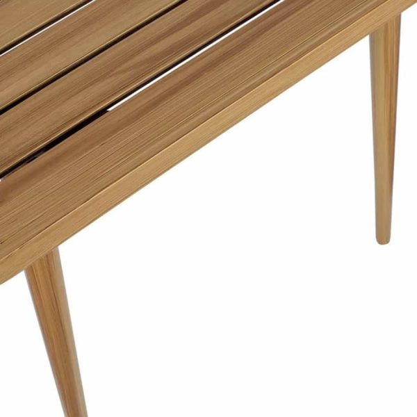 Madrid Outside Dining Table DeFrae Contract Furniture Natural close up