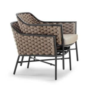 Panama Outdoor Lounge Chair DeFrae Contract Furniture Stackable