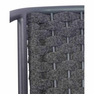 Seville Armchair DeFrae Contract Furniture Rope Effect Outdoor chair close up
