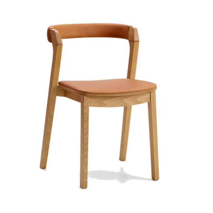 Arco Side Chair with curved upholstered backrest from DeFrae Contract Furniture 1.24.1