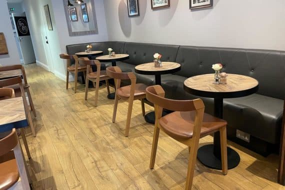 Arco side chairs at Fred & Dougs Epping by DeFrae Contract Furniture Header