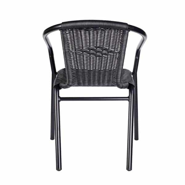 Black Wix Armchair DeFrae Contract Furniture Back View