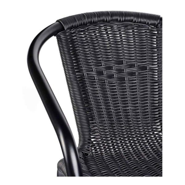 Black Wix Armchair DeFrae Contract Furniture Close Up