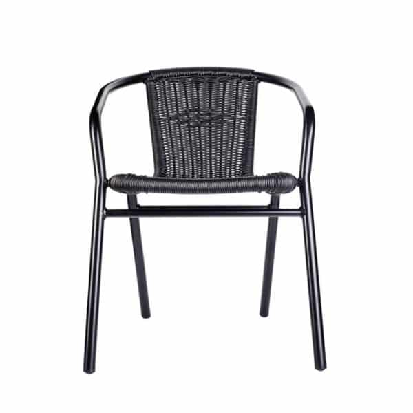 Black Wix Armchair DeFrae Contract Furniture Front View