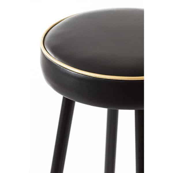 Block B Bar Stool DeFrae Contract Furniture close up seat