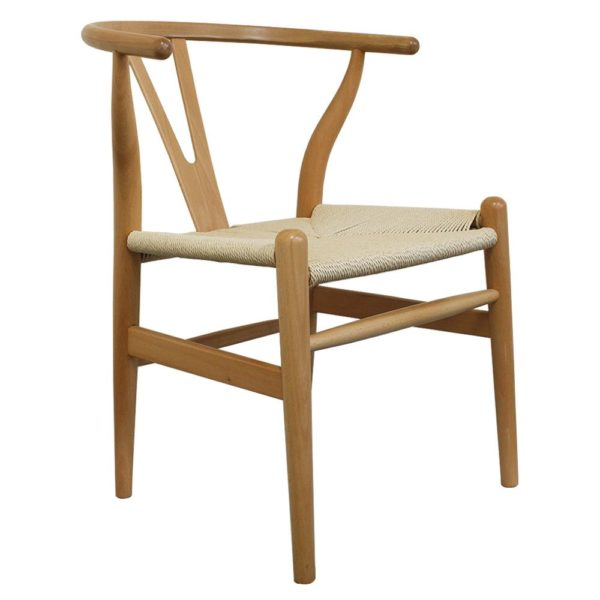 WIshbone natural Frame with natural seat DeFrae Contract Furniture hero