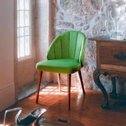 Lana A974CV Side Chair DeFrae Contract Furniture with fluted back in situ