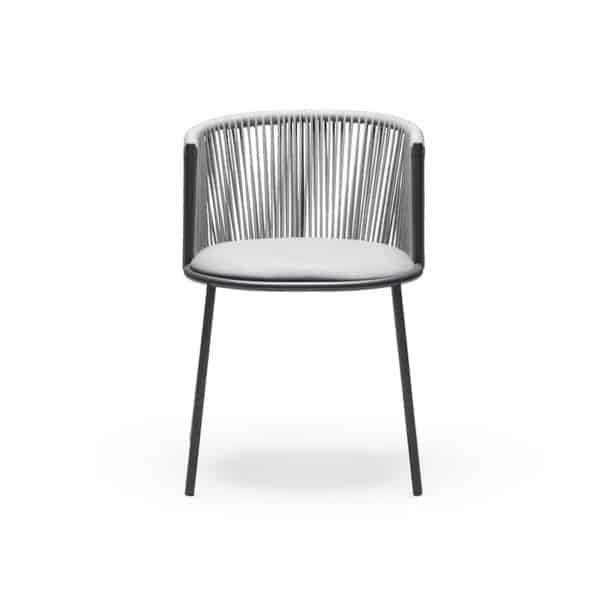 Millie 7787 Side Chair in Anthracite & Grey DeFrae Contract Furniture 2