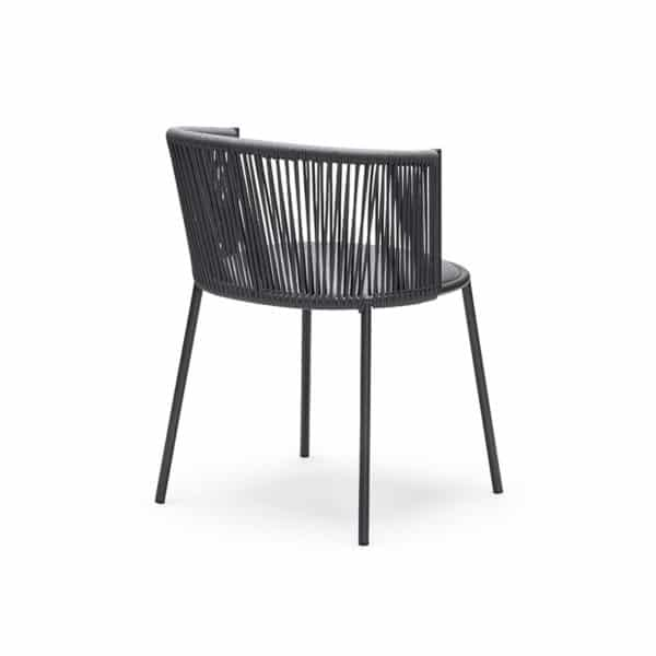 Millie 7787 Side Chair in Anthracite & Grey DeFrae Contract Furniture Back Side View