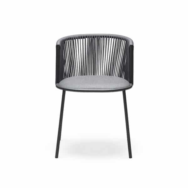 Millie 7787 Side Chair in Anthracite & Grey DeFrae Contract Furniture Front On View