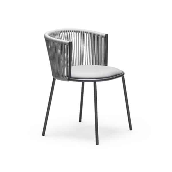 Millie 7787 Side Chair in Anthracite & Grey DeFrae Contract Furniture Front side