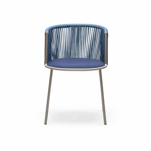 Millie 7787 Side Chair in Sand and Blue DeFrae Contract Furniture