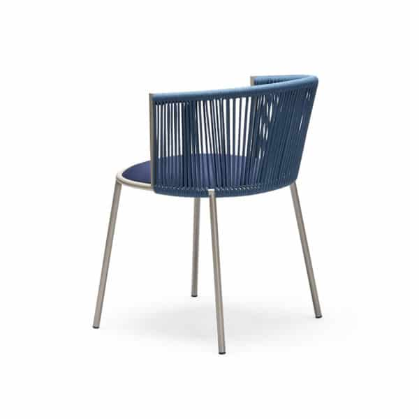 Millie 7787 Side Chair in Sand and Blue DeFrae Contract Furniture Back View
