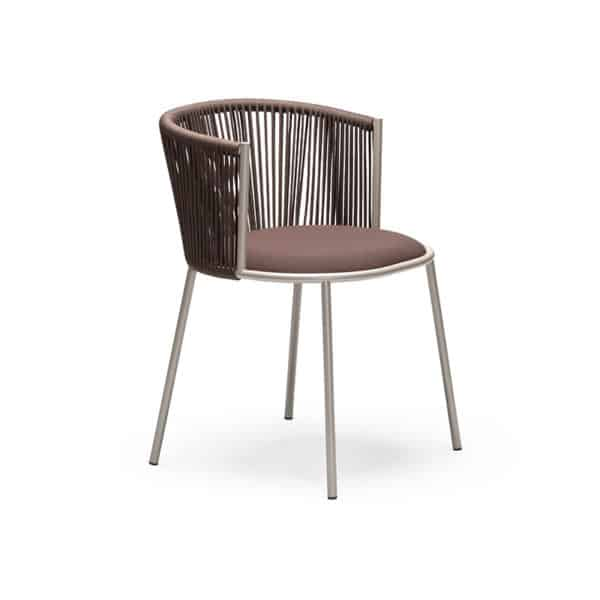 Millie 7787 Side Chair in Sand and Brown DeFrae Contract Furniture