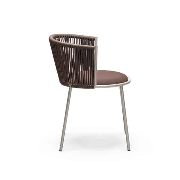 Millie 7787 Side Chair in Sand and Brown DeFrae Contract Furniture Side View