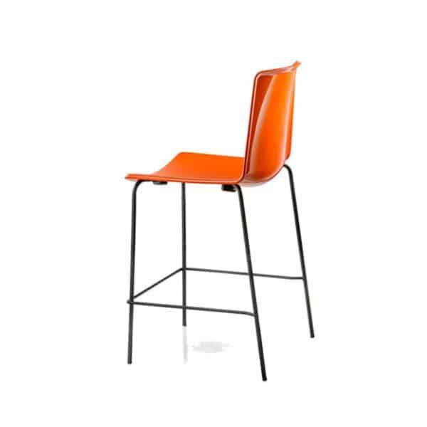 Tweet 892 Bar Stool White Burnt Orange DeFrae Contract Furniture